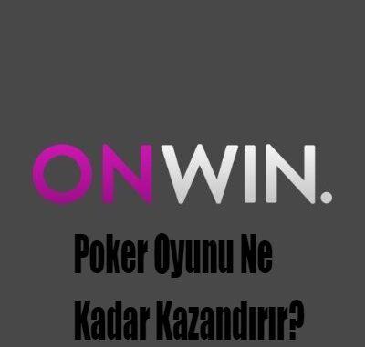 Poker Oyunu Ne Kadar Kazandırır